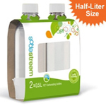 """SodaStream 1/2 Liter Carbonating Bottles - White, The SodaStream 1/2 liter carbonating bottles are designed for use with SodaStream sodamakers"